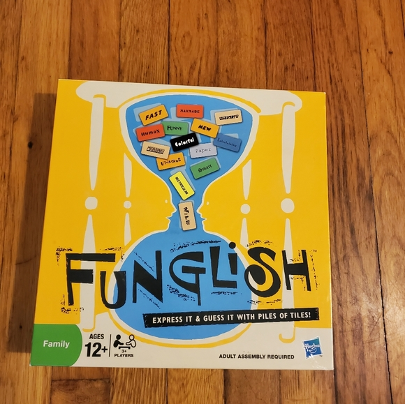 Funglish the Word Guessing Board Game